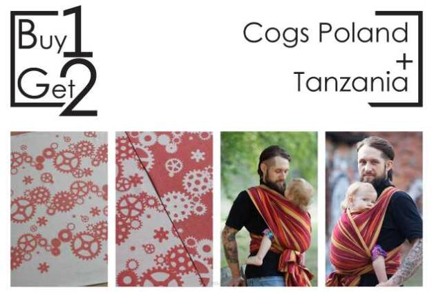 Buy1Get2 Cogs Poland 4.6 + Tanzania 4.6 baby wrap, baby wraps, babywearing, wrap, wraps, for children, for child, sling, slings, baby sling, baby slings