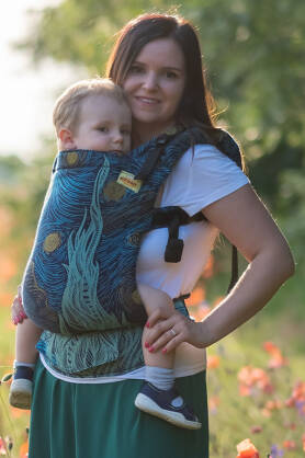 Starry Night Glitter, NATIGO CARRIER, [93% cotton, 7% polyester]