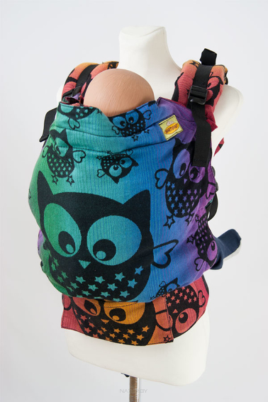 Owls Rainbow Explosion, NATIGO CARRIER, [100% cotton]