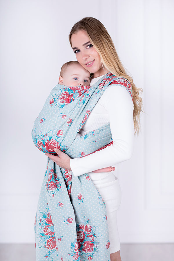 Sweet Roses, RING SLING, [100% cotton] baby wrap, baby wraps, babywearing, wrap, wraps, for children, for child, sling, slings, baby sling, baby slings