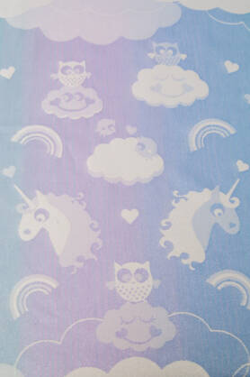 Unicorn Cotton Candy Aurora, RING SLING, [100% cotton]