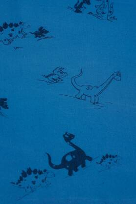 DinoFun Blue, WRAP, [70% cotton, 30% hemp]