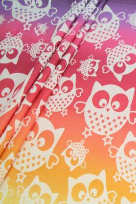 Mysterious Owls Day, WRAP, [60% Cotton , 25% Linen , 15% Silk]