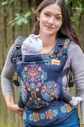 Folk Delux, NatiGrow Adjustable Carrier, [100% cotton]