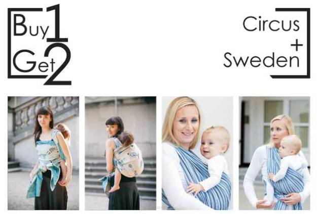 Buy1Get2 Circus 5.2 + Sweden RING L baby wrap, baby wraps, babywearing, wrap, wraps, for children, for child, sling, slings, baby sling, baby slings
