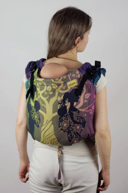 Flying Without Wings Indigo, ONBUHIMO CARRIER, [100% cotton]