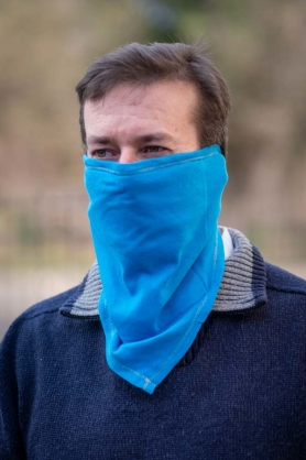 Protective scarf - BLUE [100% cotton]