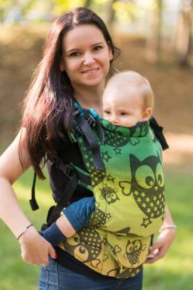Magnificent Owls Night, NatiGrow Adjustable Carrier, [40% Linen, 60% Cotton]