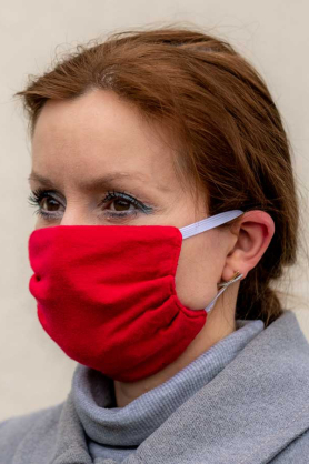 Protective mask - RED [100% cotton]