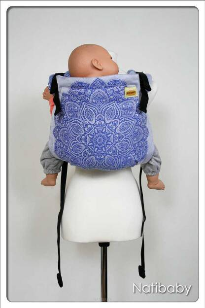 Adornos Indios Blue, ONBUHIMO CARRIER, [100% cotton] baby carrier, baby carriers, ergonomic baby carrier, ergonomic baby carriers, ssc carrier, ssc carriers, ssc baby carrier, ssc baby carriers