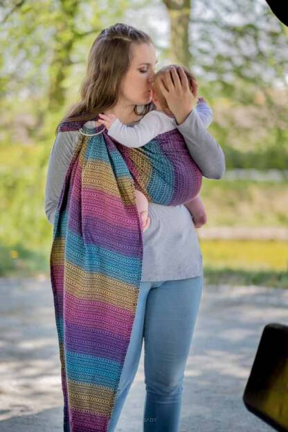 Rainbow Roam, Ring Sling, [100% cotton]