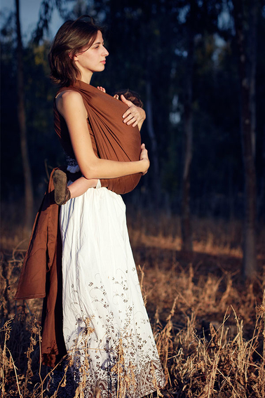 Brown, RING SLING, [100% cotton]