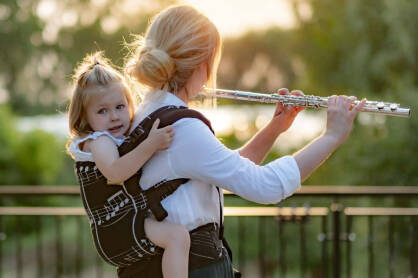Passion combined with babywearing